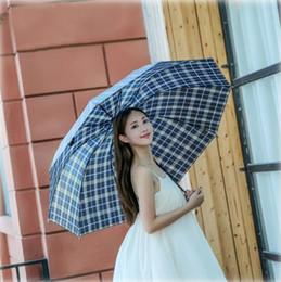 angeln drucken Rabatt Tragbare Taschenschirm Plaid Outdoor Frauen Sonnenschirm Winddicht Gedruckt Regenschirm Einfarbig Drei Taschenschirme LXL412A