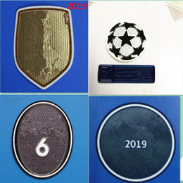 Badges de football en Ligne-2019 Club de la Coupe du monde de football Real Madrid timbre chemise badges patch champions patch football marquage à chaud
