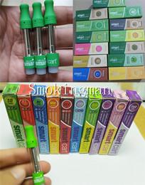 E bobinas inteligentes on-line-Smartcarts Caixa Magnética Vape Cartuchos Orgânicos Smart Carts Pacote Verde 1.0 ml Vazio Vaporizador Caneta De Cerâmica Bobina Atomizador E Cigarros