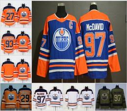 47ec9caa5 2019 Cheap Edmonton Oilers Jerseys 97 Connor McDavid 99 Wayne Gretzky 27  Milan Lucic 29 Leon Draisaitl Orange White Stitched Hockey Jersey