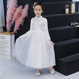 7f928742438c Girls Elegant 2019 white Ball Gown Evening Prom Dresses Long Tulle Formal  Evening Party Dress Custom discount bohemian formal evening dress