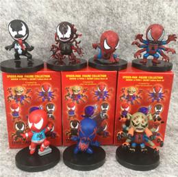 Heróis europeus e americanos e personagens de TV Spider-Man Variant Edition Todos os 7 Embalagem caixa cego de cor Boneca máquina de boneca de Fornecedores de figuras de gashapon