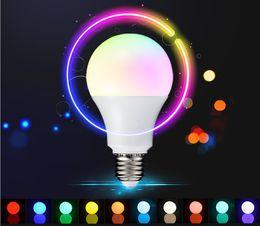 Lampada led rgb e27 en Ligne-E27 Lampe LED RGB 10W 5W 3W Lampe Ampoule LED RGB 110V 220V Télécommande 16 Changement de couleur Lampada LED Lumière globale
