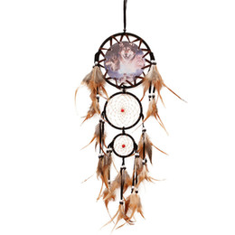oil painting dream Coupons - Creative Oil Painting Totem Dream Catcher Net With Feather Wall Hanging Home Decor Feng Shui Decorating Dreamcatcher Gift