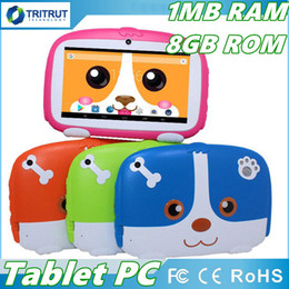 "hd multi-touch tablet Sconti Kids Brand Tablet PC 7 ""7 pollici Quad Core bambini Cute cartoon tablet cane Android 4.4 Allwinner A33 google player 512 MB 1MB RAM 8GB ROM MQ10"