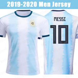 Squadra di calcio jersey argentina online-19 20 Argentina 10 MESSI pullover di calcio 9 AGUERO Dybala 22 LAUTARO DI MARIA casa 2019 della nazionale maschile di calcio Camicie Uniformi
