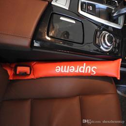 vw handle Desconto New Faux Car Couro assento fenda Inserções Gap Fillers Preto prático estojo Spacer Auto Clean slot plug Acessórios Car