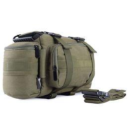 cámara dslr de lona Rebajas Bolsa de mochila con mochila táctica DSLR multifuncional cámara paquete suave Molle caso de un solo hombro w / Rain Cover