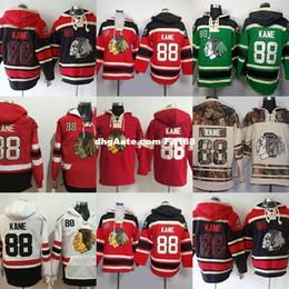 billige qualität hoodies Rabatt Chicago Blackhawks der heißen Verkaufs-Männer 88 Patrick Kane beste Qualität günstige Eishockey Hoodies akzeptieren Mischungsauftragsgröße S-3XL