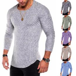besatzungstücher Rabatt Männer Casual T-Shirt 2019 Sommer neue getäfelten Arc Saum Mode Rundhalsausschnitt Quick Dry Slim reine Farbe Herren Bottom Wear Kleidung plus Größe S-XXXL
