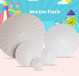 2019 parapluies d'artisanat d'art Peinture bricolage papier parapluie à la main sagesse enfants à la main maternelle Art peinture dessin parapluie bricolage artisanat jouet KKA6880 parapluies d'artisanat d'art pas cher