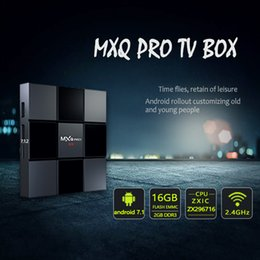 ott tv box 4k Скидка MXQ PRO 2GB 16GB 4K TV Box 17.6 Четырехъядерный Android 7.1 Smart OTT Телевизионные приставки