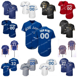 Jays Azul Jersey # 27 Vladimir Guerrero Jr. Toronto 6 Marcus Stroman 11 Pilar Kevin 14 Justin Smoak Aaron Sanchez Ouro Preto Grichuk de