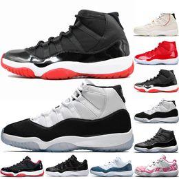 Dimensione 11 scarpe sportive blu online-Sneaker da uomo 11 Bred Gym Red Concord 11s Scarpe da pallacanestro per donna Uomo Gamma Blue Legend Blu Unc Sneaker sportiva traspirante Taglia 36-47