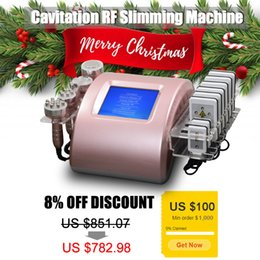 laser for fat reduction Promo Codes - 6 IN 1 laser lipo fat reduction machine radio frequency skin tightening machine for home use cavitation weight loss slimming machine