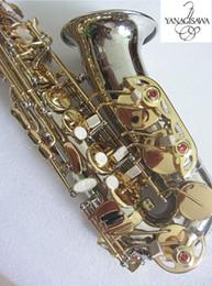 Caixas de sax alto on-line-2019 NOVO Alto Saxofone Japão YANAGISAWA A-WO37 Níquel prata Banhado A Chave de Ouro Profissional YANAGISAWA Super Play Sax Bocal Com Caso