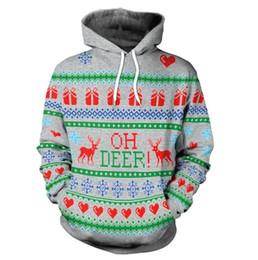 2019 suéter de reno Suministro de Europa y América nueva serie navideña estampado de renos con capucha suéter suéter de reno baratos