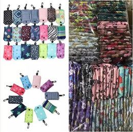 Nylon plegable bolsas de la compra reutilizables de almacenamiento Bolsa Eco friendly plegable de compras bolsas de mano bolsa de almacenamiento de las nuevas señoras bolsos del bolso con gancho desde fabricantes
