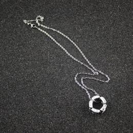 Canada Luxe Femme Noir Colliers En Céramique Femmes Ultra Diamant Chaînes En Argent pour Femmes 925 Charmes Bijoux De Mariage Offre
