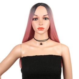 Echte lange haarperücken für frauen online-Langes gerades Haar der neuen heißen Verkaufs-Art- und Weisefrauen mischte Farbe 28 Perücke des Zoll-250g des realen Haares