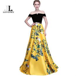 Motifs de robe de soirée en Ligne-vente en gros de fleurs modèle robe de soirée longue vintage robes de soirée de bal robe de soirée femme robe de cérémonie longueur de plancher