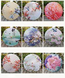 Paraguas tradicionales online-Dacne Oil Paper Umbrella Bamboo Handmade Parasoles Decorativos Traditional Craft Umbrella
