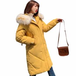Зимняя женская куртка с меховым воротником Парка пуховая ватная женская куртка на хлопковой подкладке Утолщенная женская зимняя куртка от