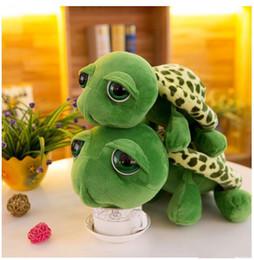 Grande tartaruga peluche occhio online-Figurine di tartaruga di cartone animato creativo di tartaruga bambola di tartaruga occhi grandi simpatici pupazzi di animali creativi animazione di peluche regalo di Natale all'ingrosso