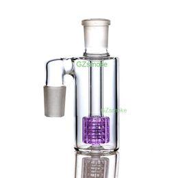 acessórios de percussor de bong Desconto 90 graus 18mm ashcatcher vidro tubulações de água matriz percolator cinzas apanhador heady dab bongs alta qualidade acessório de fumar