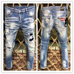 e5799da9da2 шлифовальные джинсы Скидка 2019 новый бренд модных европейских и  американских мужских повседневных джинсов
