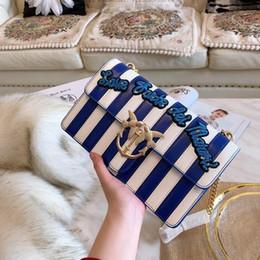 2019 bolsos de cuero de marca azul Hombro inclinado Moda bolso femenino Diseñador de la marca Crossbody Messenger Feminino cuero genuino bolso azul