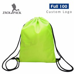 custom print backpack Coupons - Free Shipping Girl Sports Drawstring Waterproof Printing Backpack Pull Rope Male Female Students Small Pocket Custom Logo DB10