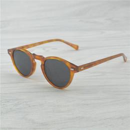 Gregory Peck Brand Designer uomo donna Occhiali da sole oliver Vintage occhiali da sole polarizzati OV5186 retro Occhiali da sole oculos de sol OV 5186 da
