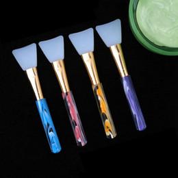 gesichtsmasken machen Rabatt Silikon-Maske Pinsel Gesichtsgesichtsmaske Mud Mixing Hautpflege Schönheit bilden Werkzeug Pinsel Foundation 4 Farben HHAa314
