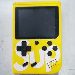 Jogos grátis android on-line-SUP Mini Handheld Game Console de vídeo Jogadores Portáteis 400 EM 1 Jogo CAIXA Colorido Tela LCD Game Player DHL Livre