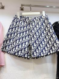 nova linha Desconto 2019 nova letra do logotipo das mulheres de cintura alta jacquard a-line moda verão calções plus size S M L