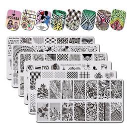 projeto dos selos da flor Desconto BeautyBigBang 6 PÇS / set Flower Love Design Prego Carimbar Placas Retângulo Padrão Stamping para unhas Modelos Nail Art Ferramentas