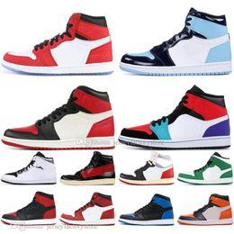 premium selection dfe9d 3aa25 1s Mid OG 1 top 3 Spider-Man Herren Basketball-Schuhe Homage To Home  Verboten Zucht Chicago Royal Blue UNC Couture Herren Sport Designer Sneakers