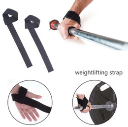 Gewichtheben handschuhe online-hotWeight Lifting Hand Wrist Bar Stützgurt Klammer Unterstützung Gym Fitness Übungsgriffe Gurte Weight Lifting Wrap Body Building Grip Handschuh