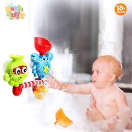 Brinquedo de polvo plástico on-line-Caçoa o Caranguejo Polvo Caranguejos Jogar Conjunto de Banho de Plástico Brinquedos Rotacionar Os Olhos Fluxo De Água Cachoeira Do Chuveiro Do Brinquedo de Presente Para As Crianças Q190531