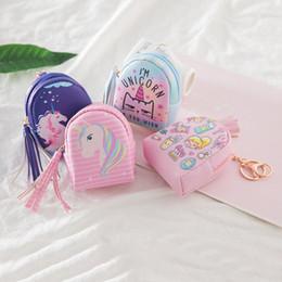 2019 lindas carteras pequeñas para mujeres Cute Unicorn Rainbow Coin Bag Women Fashion Tassel Coin Purses Patrón de dibujos animados Cute Small Bag Clutch Zero Wallet Gift rebajas lindas carteras pequeñas para mujeres