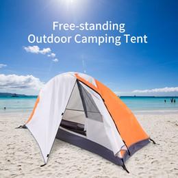 2019 stands d'escalade Tente de camping sur pied Randonnée Escalade Tente de couchage Coucher de soleil Abri Détachable Seul Camping Cabana Imperméable Extérieur stands d'escalade pas cher