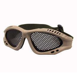 verres à liqueur en acier Promotion Nouvelles arrivées Unisexe Sports de plein air Chasse Tir Ski Ski Tactical Steel Mesh Steel Eyes Protect Goggles Lunettes Lunettes