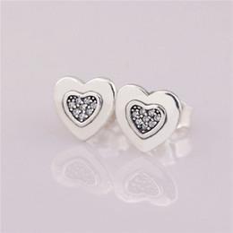 corazón estampado plata esterlina Rebajas Estampado Corazón Especial Diseño Simple Pendientes de Encanto Auténtico Plata de Ley 925 Moda Mujer Joyería Estilo Europeo