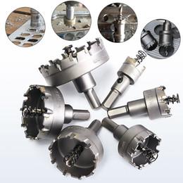 6 Stücke HSS Lochsäge Set Hartmetallspitze TCT Kernbohrer Lochsäge Für Metall Edelstahl Cutter Top Qualität von Fabrikanten