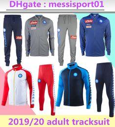 Giacca calcio online-2019/2020 Napoli tuta Hamsik Insigne Callejon Zielinski 19/20 SSC Napoli giacca lunga cerniera set 2019 Soccer giacca-vestito