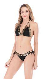 Bikini de tres puntos online-Nuevo Bikini Diseñador de lujo Mujer Bikini de playa Ropa interior Traje de baño Traje de baño para mujer Trajes de baño sexy Traje de baño explosivo de tres puntos sexy
