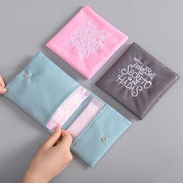 Seide kosmetiktaschen online-Frauen-Mädchen-Silk Stickerei-Make-up-Beutel-Spielraum-Speicher-Beutel Waerproof Cosmetic Tragbare Sanitary Napkin Organizer