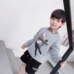 Niños pequeños sudaderas online-Envío gratis Toddler Boy Clothes Baby Girl Sudaderas Niños Impreso primavera Otoño Primavera Algodón Tops Niños Sudadera