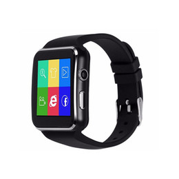 support intelligent compatible apple ios Promotion X6 horloge de montre intelligente avec fente pour carte Sim TF Bluetooth compatible avec ios Android Phone Smartwatch